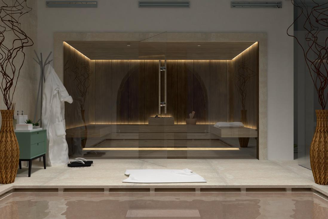 Progetto sauna su misura